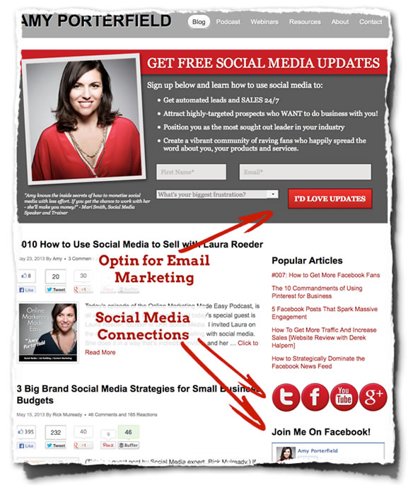 Amy Porterfield Home Page