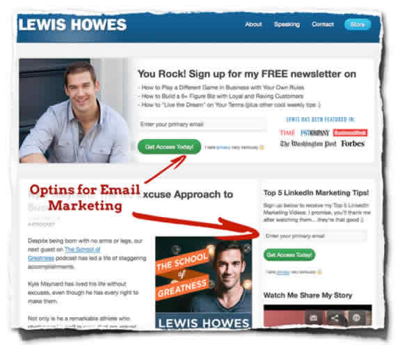 Lewis Howes Home Page Home Page