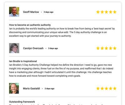 ReviewTrust Blog Style Display